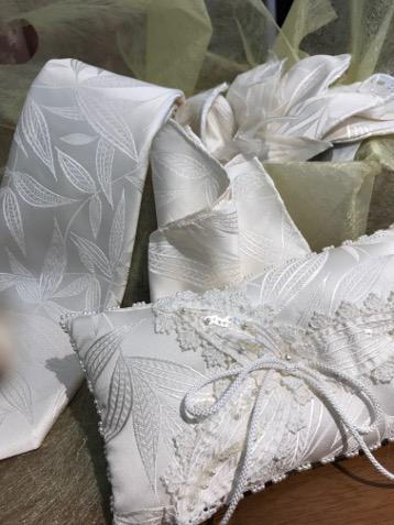ウェディングドレス&ウェディング小物・・・全て博多織でオーダーメイド